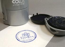 Комплект печатей с логотипом